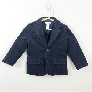 Janie and Jack | Boys Navy Corduroy Blazer Jacket